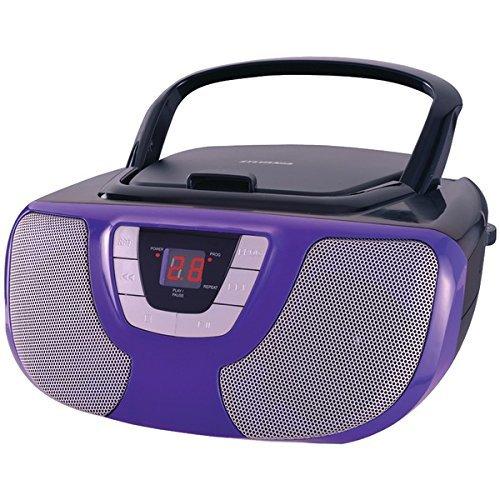 Sylvania Portable Player Radio Purple
