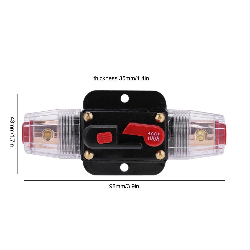 80A KIMISS Le disjoncteur audio automatique damplificateur damp/ère de voiture a d/égrossi le support de fusible de style dAGU