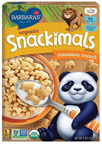 Barbara's Bakery Organic Snackimals Cereal, Cinnamon Crunch, 9 Ounce