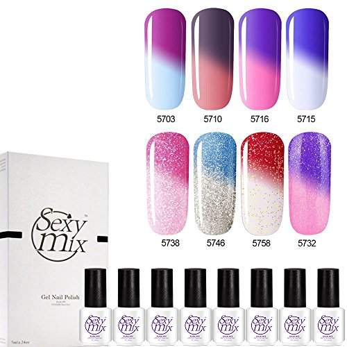 Best gel nail polish clear glitter colors