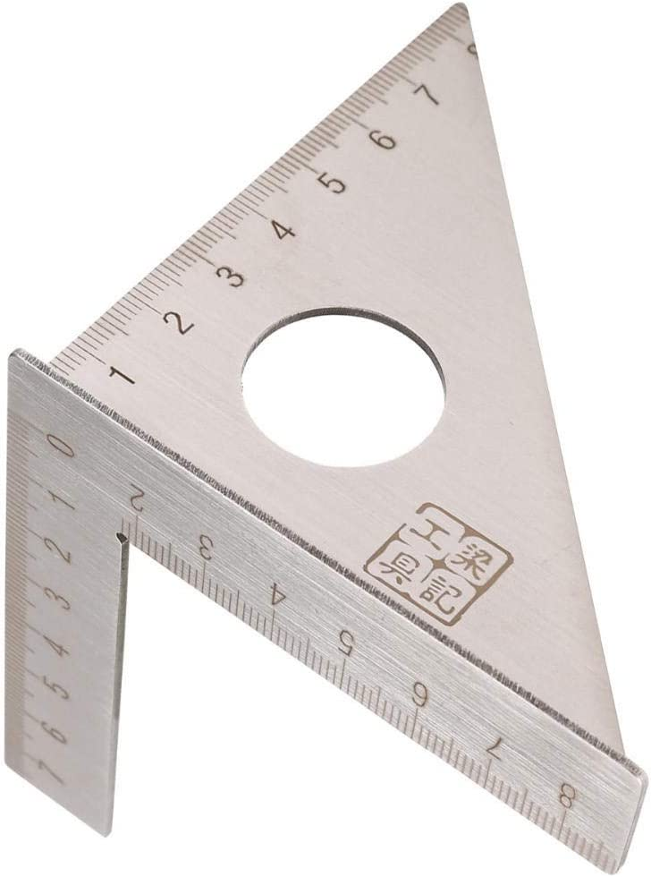 Ctghgyiki Square Layout Miter Triangle Rafter 45 Degree 90 Degree Metric Gauge Measuring Tools Stainless Steel Woodworking Ruler Woodworking Tools