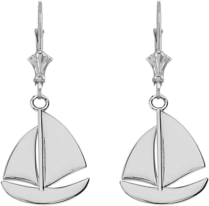 Wife Gift Celtic Sailboat Earrings Nautical Jewelry Anniversary Gift Beach Jewelry Ship Jewelry Sailing Jewelry Ocean Jewelry