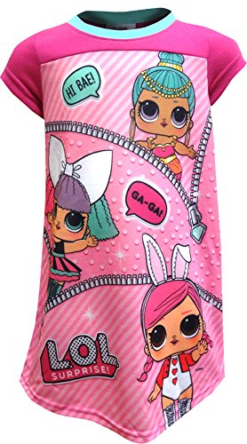 L.O.L. Surprise! Girls' Little LOL Surprise Nightgown, Pink, 4 ()