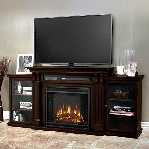 - Real Flame 7720E Calie Entertainment Unit with Electric Fireplace, Large, Dark Walnut