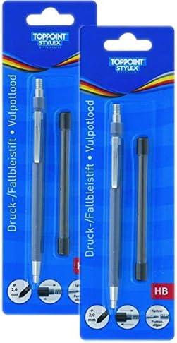 Stylex bajo Pack: 2 x 1 portaminas (Incluye Minas, HB, 2 mm: Amazon.es: Oficina y papelería