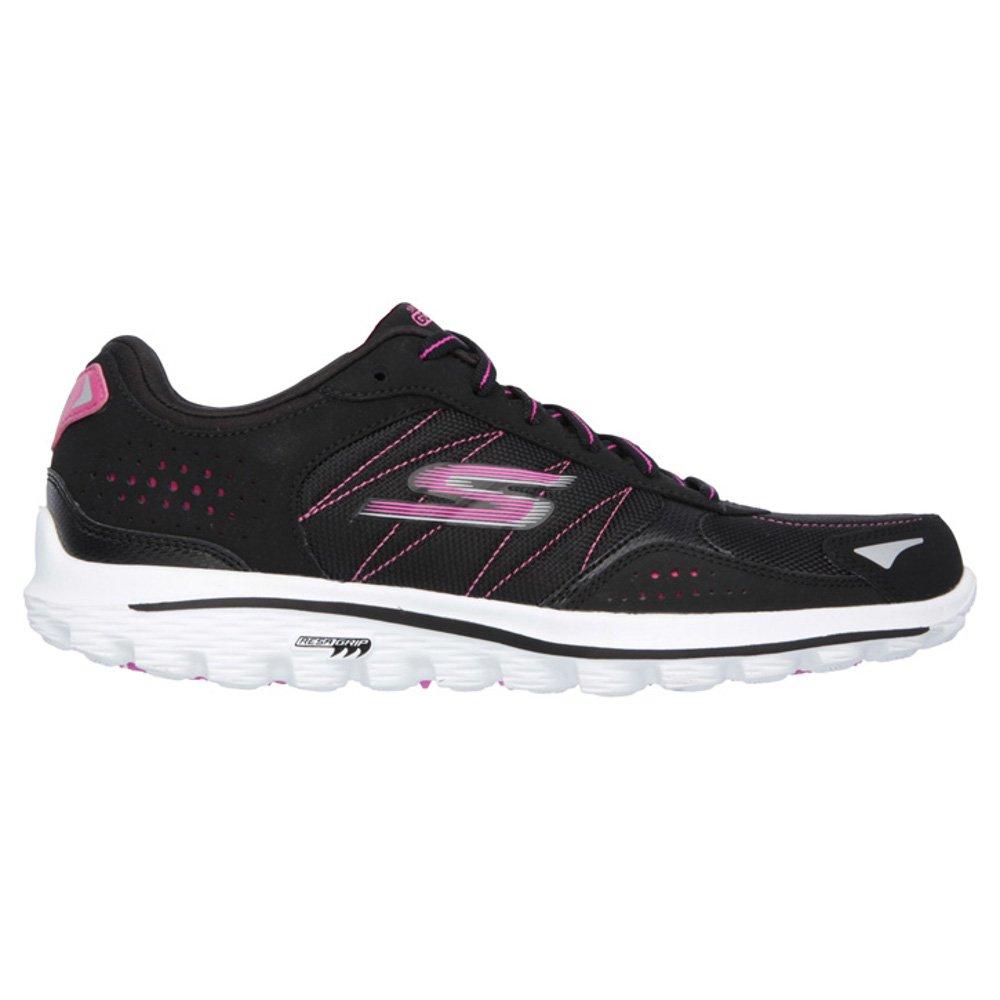 Skechers Performance Women's Go Walk 2 Golf Lynx Balistic Shoe, 6 B(M) US, Black/Hot Pink