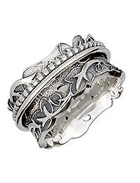 Energy Stone Eden Garden Sterling Silver Spinner Ring (Style# SR74)