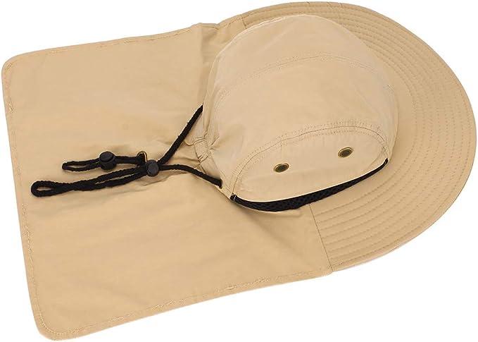 Cappelli pescatore estivi Boonie cappelli pescatore uomo con cappello a secchiello da pesca a tesa larga poliestere traspirante
