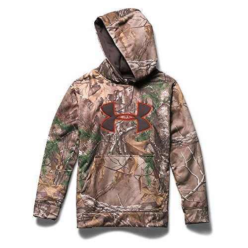 Under Armour Youth Camo Big Logo Hoody Realtree Ap Xtra / Maverick Brown XL
