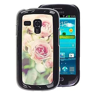 A-type Arte & diseño plástico duro Fundas Cover Cubre Hard Case Cover para Samsung Galaxy S3 MINI 8190 (NOT S3) (Ruses Focus Flowers Green Field Summer)
