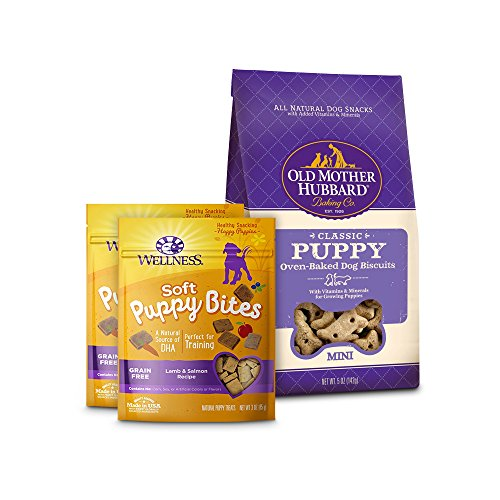 (Wellness Soft Puppy Bites With Old Mother Hubbard Classic Puppy Biscuits, Small Bundle)
