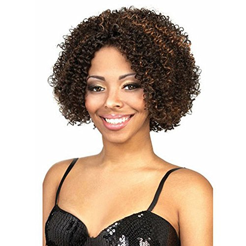 MILISI Short Afro Kinky Wig Brown Curly Wigs