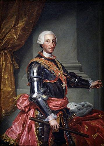 Oil Painting 'Mengs Anton Rafael Carlos III Ca. 1761', 30 x 42 inch / 76 x 107 cm