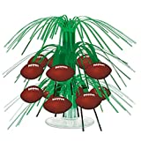 Beistle 54104 Football Mini Cascade Centerpiece, 7.5, Green/Brown/White (Value 3-Pack)