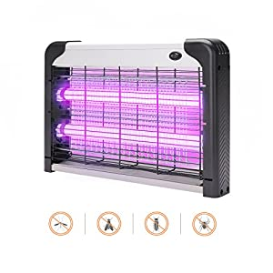 Commercial Electric Bug Zapper - Indoor & Covered Patio Insect Killer 2800V | Fruit Fly, Stink Bug, Ladybug, Moth, Wasp, Gnat and More | Electronic Trap Lamp | 6000sqft Coverage | Safe 20W Light Bulb