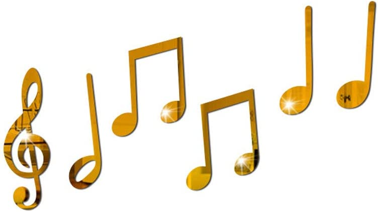 Acrylic Mirror Gold Music Notes Wall Sticker - GorNorriss New Removeable Vinyl Art Musical Note Wall Sticker Wall Home Decor Mural DIY Decals