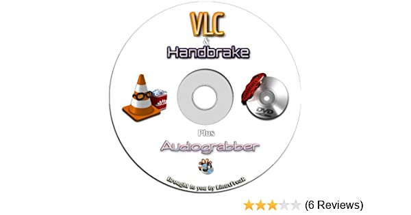 VLC Media Player - Plays Dvds, Cds, Mp3s, Almost All Media Files  Includes  Handbrake DVD Ripping Software