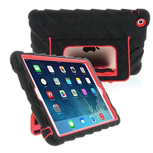- Apple iPad mini iPad mini Retina iPad mini 3 Hideaway with Stand Red Gumdrop Cases Silicone Rugged Shock Absorbing Protective Dual Layer Cover Case