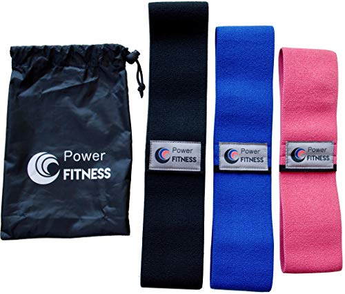 Power Fitness 3-Size Hip Circle Resistance Bands by Core Premium Resistance Circles for Toning and Strengthening Hips, Glutes, Thighs, and Booty | Increase Strength, Flexibility, and Definition,