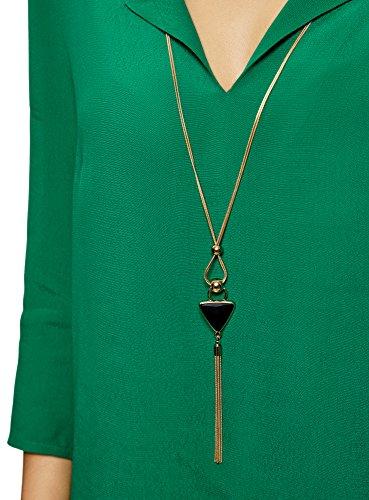Vert Collection Bijou 6e01n Droite Femme oodji Coupe avec Blouse dTqwF0xO0