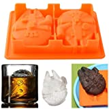 Star Wars Millennium Falcon Silicone Ice Cube Tray Jelly Chocolate Mold DIY Tool