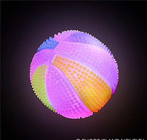 2.5'' NEON LIGHT-UP SPIKY BASKETBALL, Case of 144