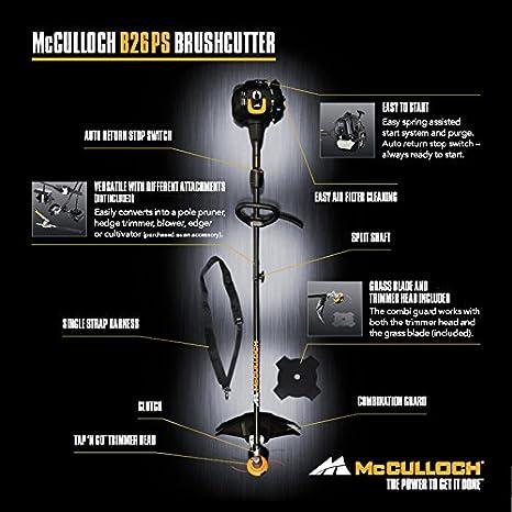 McCulloch 00096-72.078.01 B26 PS Desbrozadora con un ancho de ...