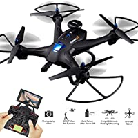 Global Drone X183 Drone with HD Camera, Dual GPS Position, Auto Return and Following Function Quadcopter, 5.8GHz FPV Live Video Feed Transmitter RC Helicopter