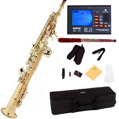 Mendini by Cecilio MSS-L+92D Straight Soprano Saxophone