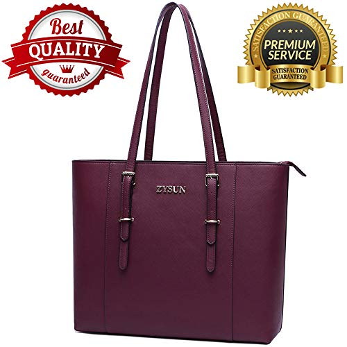 56ca6bc570bb Laptop Bag for Women, Laptop Tote Bag Large Capacity Briefcase Lightweight  Computer Bags Fit Up to 15.6 Inch Laptop Notebook Ultrabook,Darkberry