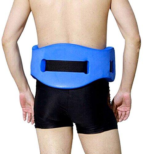 Easysouthlife EVA Swim Belt Back Floating Foam Floating Belt Swim Waist Belt Provides Great Fun for Swimmer (Yellow) (Blue)