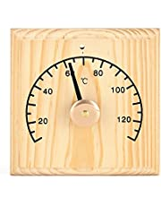 0-140 Wooden Thermometer for Sauna Room Wall Mounted Temperature Display