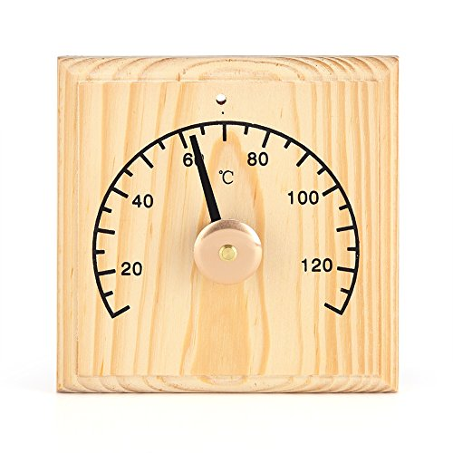 0~140℃ Wooden Thermometer for Sauna Room Wall Mounted Temperature Display