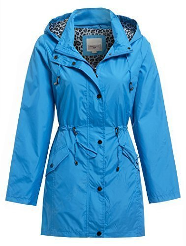 SS7 to Women's 10 Raincoat Casual Blue Sizes 24 qUqwZXr