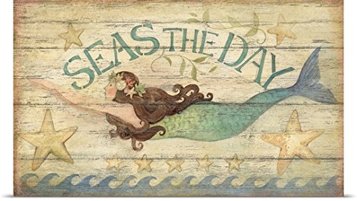 Susan Winget Poster Print entitled Seas the Day Mermaid