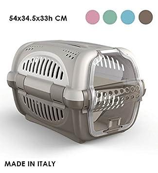 takestop Transportín con Tirador Filtro Rhino 51 x 34 x 33 cm para Perro Gatos Gato Animales toelettatura Transporte Viaje Color Aleatorio: Amazon.es: ...
