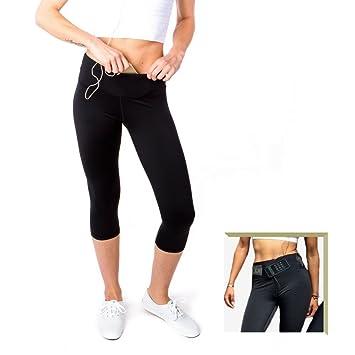 Amazon.com: Sport-it Yoga Capri Leggings Tights | Workout Pants ...