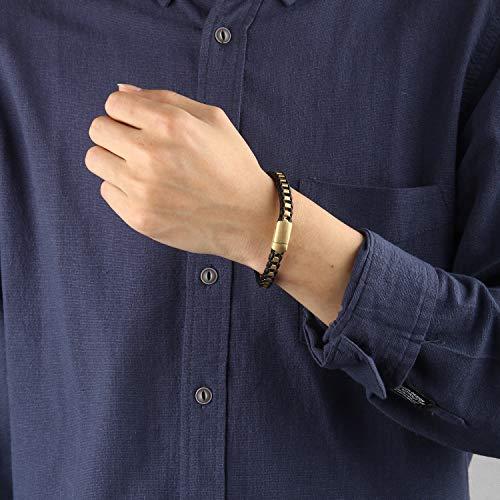 Men Elegant Titanium Magnetic Therapy Bracelet Pain Relief for Arthritis 2MB