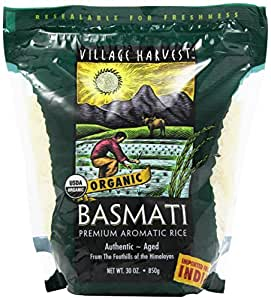 Village Harvest Organic Indian Basmati rice, 30 Ounce