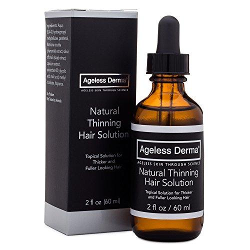 Ageless Derma Natural Hair Thinning Solutions, a Thin Hair Serum by Dr. Mostamand.