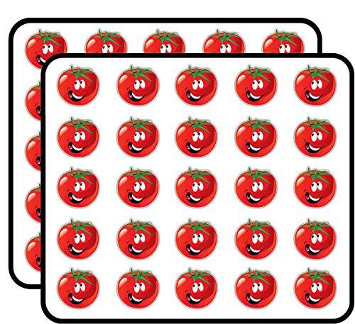 Tomato Smile Funny Cartoon Sticker for Scrapbooking, Calendars, Arts, Kids DIY Crafts, Album, Bullet Journals 50 Pack