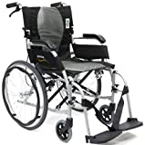 Karman Ergonomic Wheelchair Ergo Flight in 16 inch Seat, Pearl Silver Frame