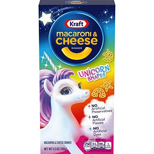 Kraft Unicorn Shapes Macaroni and Cheese, (5.5 oz Boxes, Pack of 12)
