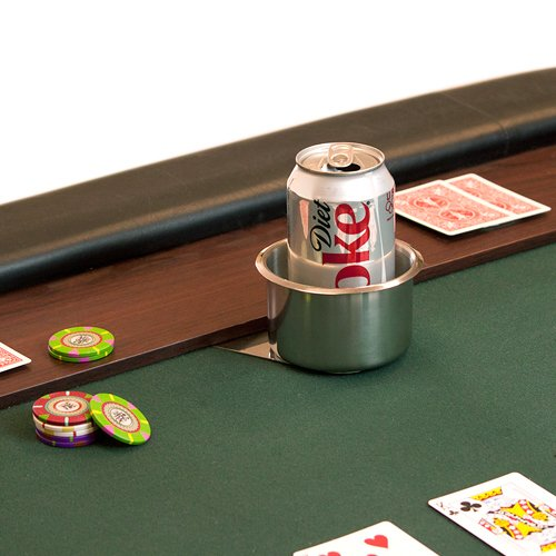 Amazon.com : Brybelly Slide Under Stainless Steel Cup Holder (Jumbo) : Poker  Tables : Sports U0026 Outdoors