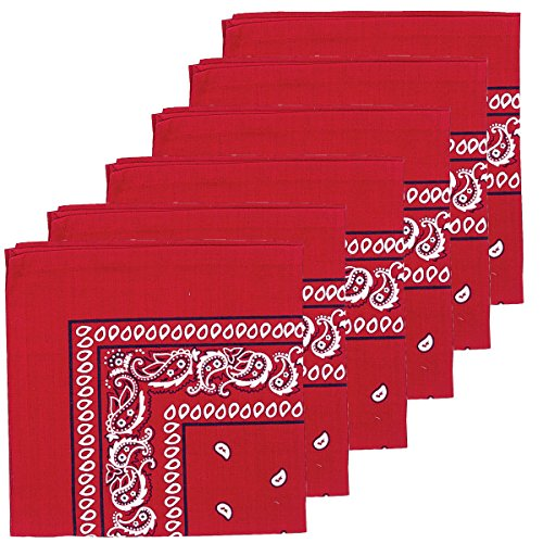 C&F Home Bandana Red Cotton Napkin 18x18 Set of 6 Napkin Set of 6 Red ()