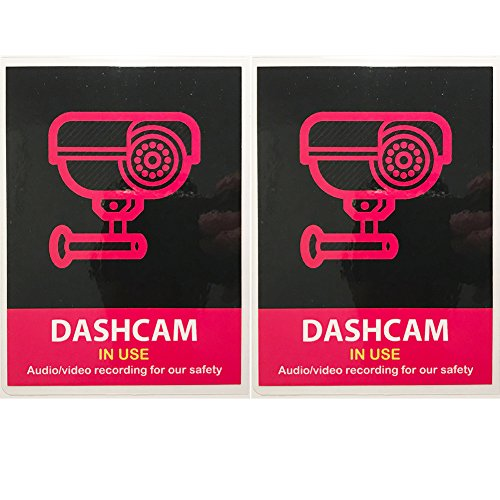(Set of 2) Uber Lyft Headrest Decal Dashcam In Use Sign Rideshare Display