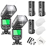 Neewer NW-562 E-TTL Flash Speedlite Kit for Canon DSLR Camera, Include:(2) NW-562 Flash + (1)2.4Ghz Wireless Trigger(1 Transmitter + 2 Receiver)