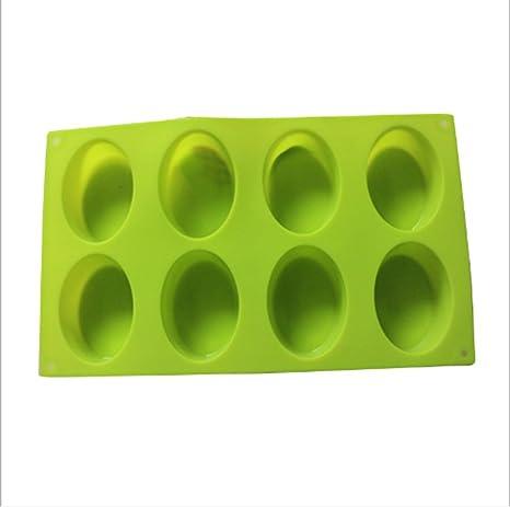 Moldes de jabones de Molde de Silicona 8-oles moldes para Hornear Magdalenas de Magdalenas