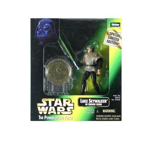 Endor Luke Skywalker (Star Wars: Power of the Force Millenium Coin Edition Luke Skywalker in Endor Gear Action Figure)
