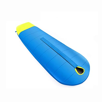 Saco de dormir LCSHAN Poliéster Engrosamiento cálido Acampar al Aire Libre Adulto Senderismo Impermeable (Color